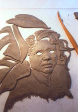 another photo ofsculpting a piece